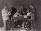 China, Group of Accountants with their Abacuses Photographic Print