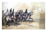 Charlet, Bonaparte on Horseback in Cairo, with His Staff Giclee Print by Nicolas-Toussaint Charlet