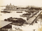 Suez Canal (Egypt) Port Said, View of the Quay and the Suez Company Offices Fotodruck