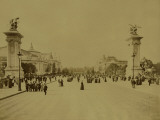 Paris, 1900 World Exhibition, View of the Avenue Nicolas Ii Photographie par Brothers Neurdein
