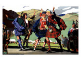 LMS Railway Highland Games Giclee Print by Christopher Clark