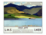 LMS Railway, Loch Awe Giclee Print by Norman Wilkinson