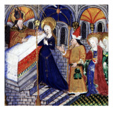 Manuscript of the Hours of Rohan-Montauban: Scene from the Life of the Virgin Giclee Print