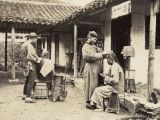 China, Itinerant Hairdressers in the Countryside Photographic Print