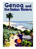 Genoa Italian Riviera Giclee Print