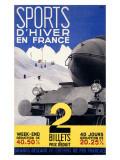 Sports d'Hiver en France, Train Giclee Print by  Girous
