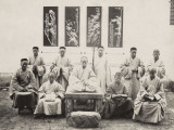 China, Group of Priests or Monks Photographic Print
