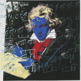 Beethoven, c.1987 (blue face) Kunstdrucke von Andy Warhol