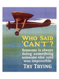 Try Trying Success Giclee Print