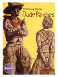 Santa Fe Railroad, Southwestern Dude Ranches Giclée-trykk
