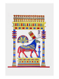 Aries, Living Emblem of Amon Ra Giclee Print by Jean-Fran?s Champollion