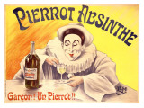 Pierrot Absinthe Giclee Print by LEM 