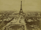 Paris, 1900 World Exhibition, View of the Champ De Mars from the Trocadero Photographie par Brothers Neurdein