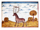 Manuscript, Hunting Scene: Stag Giclee Print by Henry de Ferrieres