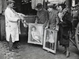 Swapping the Bust of a Woman for a Piece of Meat in Paris Photographic Print