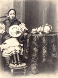 China, Young Sophisticated Woman at Home Photographic Print