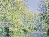 The Epte River near Giverny Lminas por Claude Monet