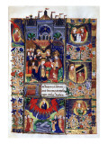 Manuscript of the Hours of Rohan-Montauban: Coronation of the Virgin and Her Assumption Gicl&#233;e-Druck