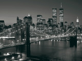 Manhattan Skyline at Night Art by Richard Berenholtz