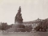 Russia, Catherine Ii Monument and theatre, in St. Petersburg Photographic Print