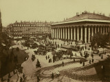 Paris, Place De La Bourse Photographie par Brothers Neurdein