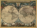 World Map, c.1664 Posters