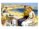 Bridlington, LNER, 1938 Giclee Print by Septimus Scott