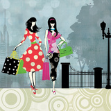 Girls Gone Shopping Posters by Allison Pearce