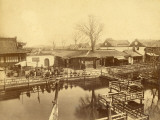 Tea House of Yu Garden in Shanghai (China) Photographic Print by Felice Beato