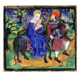 Manuscript of the Hours of Rohan-Montauban: The Flight into Egypt Giclee Print