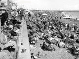 Overcrowded Beach at Hastings (England) Photographic Print
