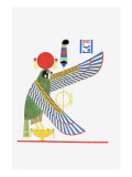 The Winged Sun Disk and Hawk Giclee Print by Jean-Fran?s Champollion