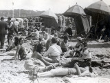 Beach at Deauville, August 15, 1930 Photographic Print