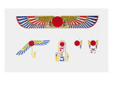 The Winged Disk, The Emblem of Thoth Giclee Print by Jean-Fran?s Champollion