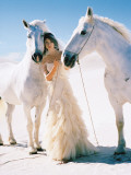 Woman with White Horses Prints by Alfred Saerchinger