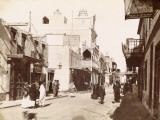 Shopping Street in Suez (Egypt) Photographic Print