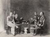 China, Opium Smokers Lámina fotográfica
