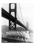 San Francisco Ballet Company and the Golden Gate, c.1960 Reproduction procédé giclée