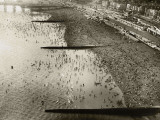 Aerial View of the Beach at Brighton, Sussex (1933) Photographic Print