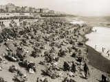 The Beach at Brighton, Sussex (1930) Photographic Print