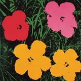 Fleurs, 1964 (1 rouge, 1 rose, 2 jaunes) Affiches par Andy Warhol