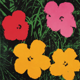 Flowers, c.1964 (1 red, 1 pink, 2 yellow) Art by Andy Warhol