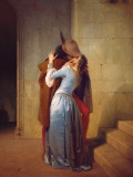 ll Bacio Prints by Francesco Hayez