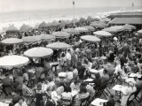 Café Terrace in Deauville, France (1948) Photographic Print