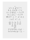 Hieroglyphics Giclee Print by Jean-Fran?s Champollion