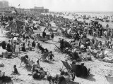 Overcrowded Beach at Margate, Kent Photographic Print