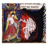 Manuscript of the Hours of Rohan-Montauban: The Descent into Hell Giclee Print