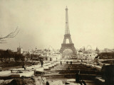 Paris, 1900 World Exhibition, The Building of the Trocadero Ponds Fotografie-Druck