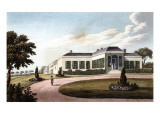 "Engraving, ""View of the Longwood House Near the Garden"" (1819) Giclee Print"