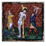 Manuscript of the Hours of Rohan-Montauban: The Flagellation Giclee Print